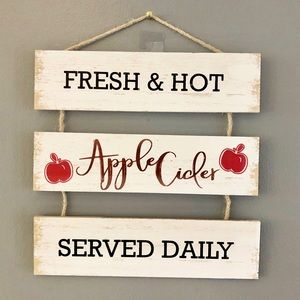 Other - Wooden Fall Apple Cider Home Decor Sign